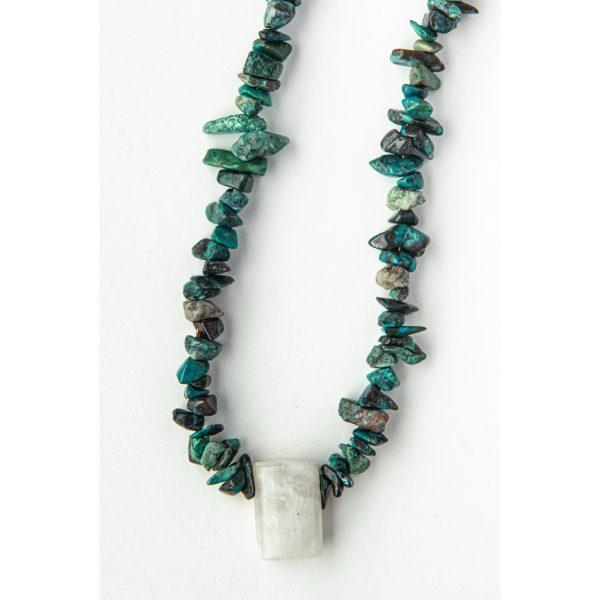Collier turquoise et pierre de lune